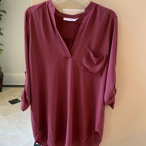NWOT Beautiful simple maroon medium lush blouse